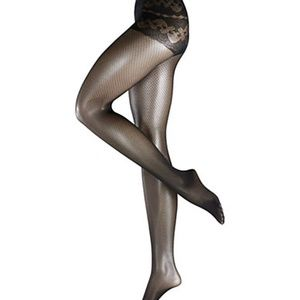 Falke Chiselled Net Tights - Black